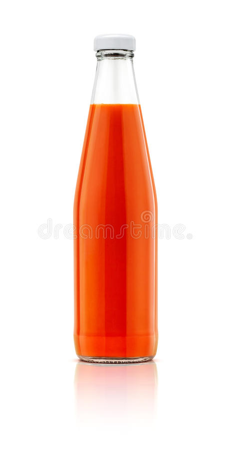 Chilli sauce bottle isolated on white background royalty free stock images