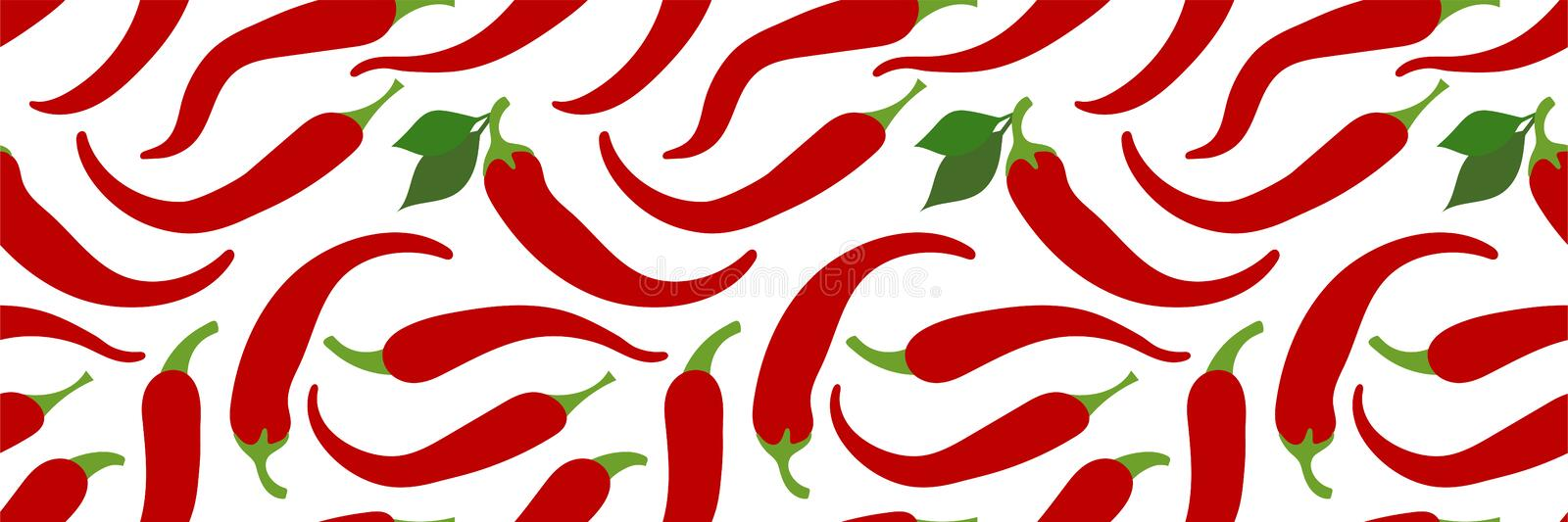 Chilli seamless pattern. Hot pepper. Spicy taste. Red vegetable. Paprika. Hand drawn doodle vector sketch. Healthy food. Chilli seamless pattern. Hot pepper stock illustration