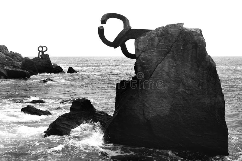 Download Chillida Rusty Steel Sculpture In San Sebastian Stock Photo - Image: 11368196
