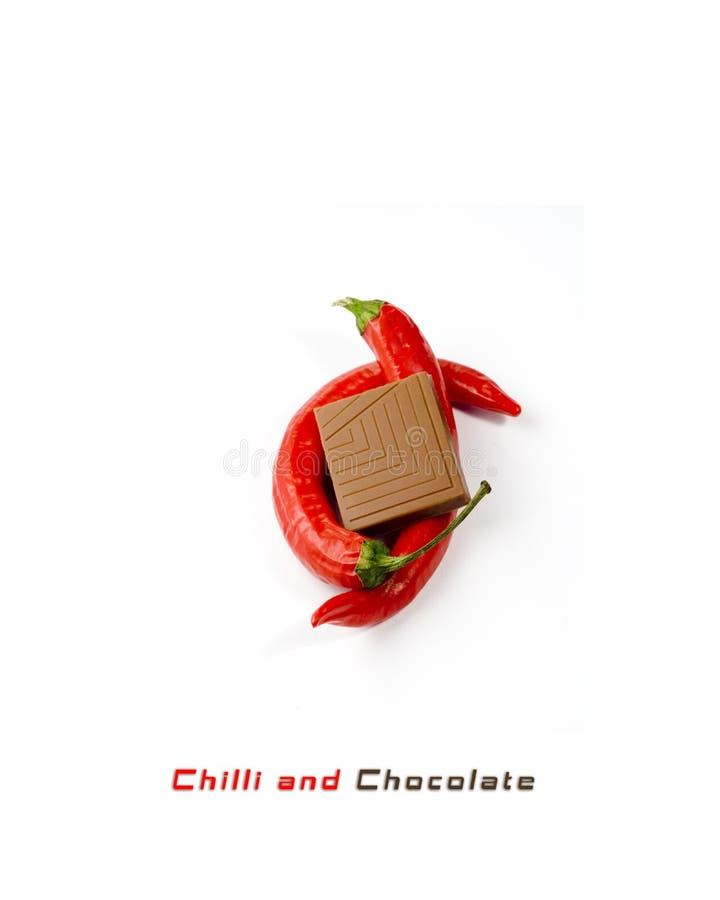 chillies chocolat fotografia stock