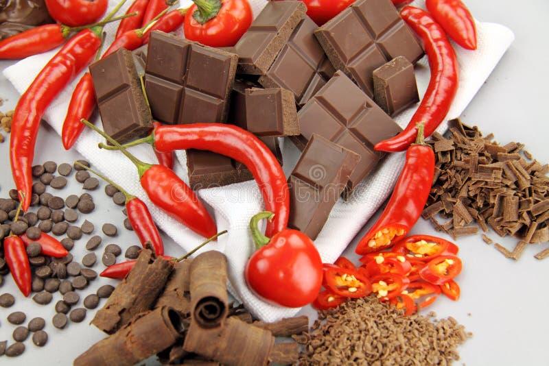 chillies czekoladowi obrazy royalty free