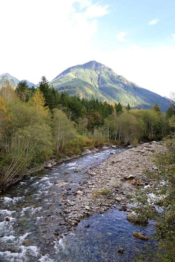 Chilliwack Fluss-Herbst-Ansicht stockfotos
