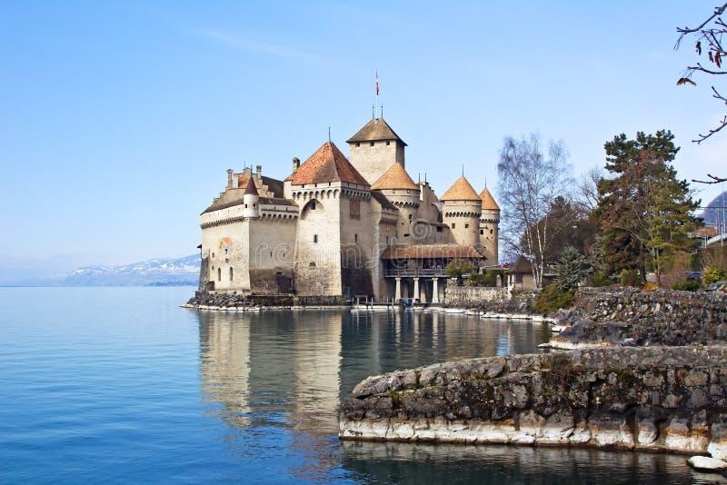 chillon замока стоковые изображения rf