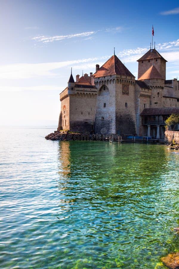 chillon замока стоковое изображение rf