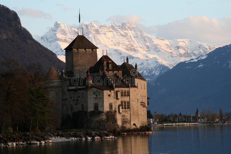 Chillon Castle Switzerland royalty free stock photo