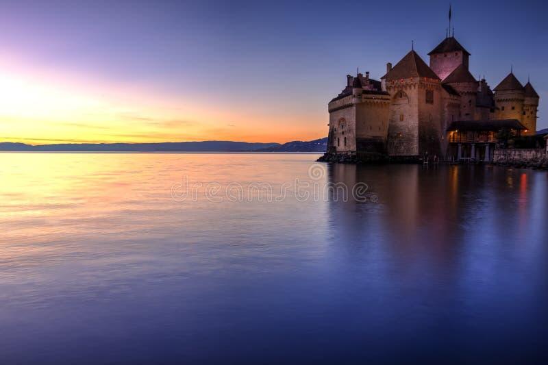 Chillon castle, Switzerland stock image