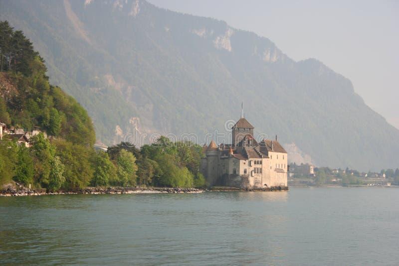 chillon de montreux замка стоковые изображения rf