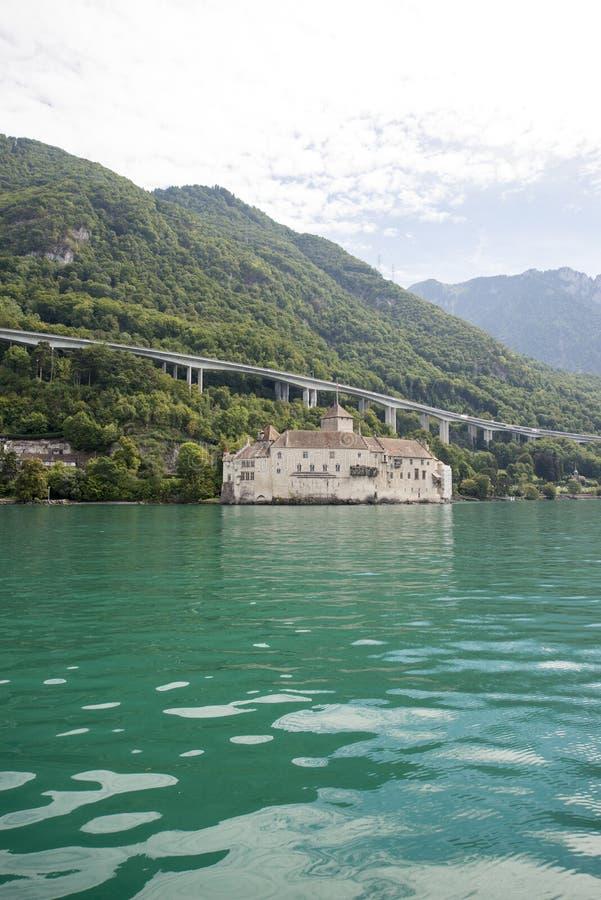 Chillon Schloss, die Schweiz stockbilder