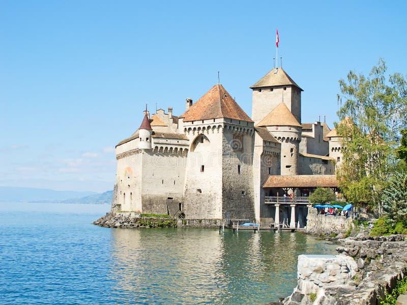 Chillon slott arkivfoto
