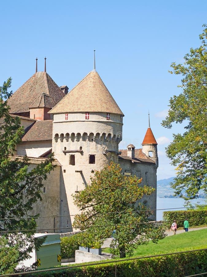 Chillon slott arkivbilder