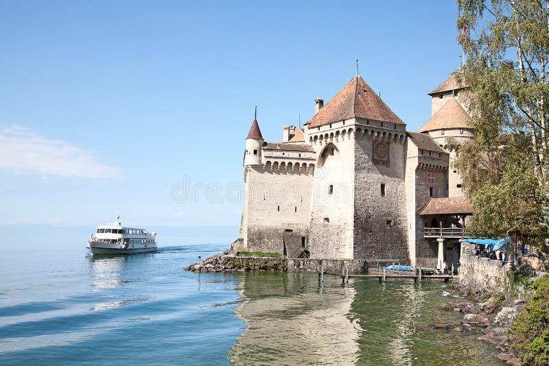 Chillon slott royaltyfria foton