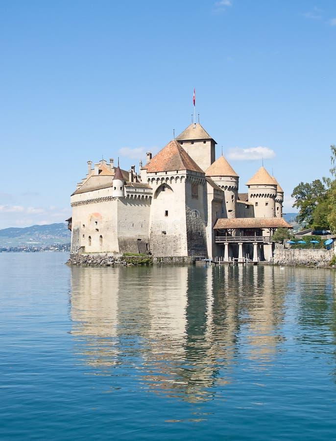 Chillon slott royaltyfria bilder