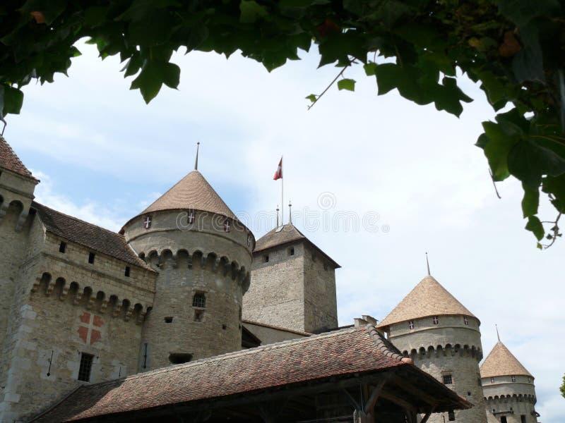 Chillon, svizzero 08/02/2009 Castello di Chillon fotografie stock