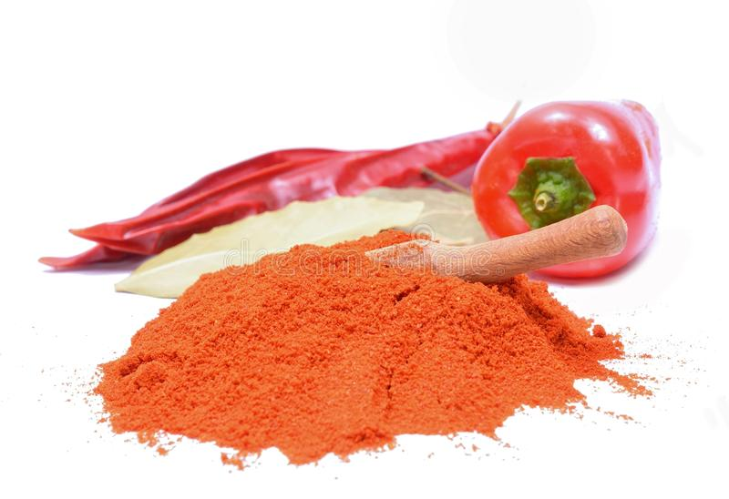Chilly powder and red chilly royalty free stock photography