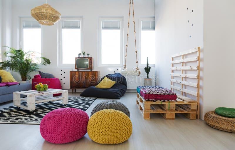 Chillzone en appartement images stock
