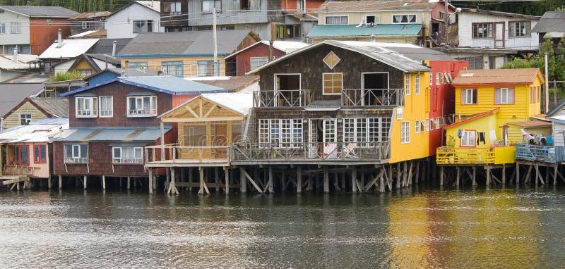 Chiloe Castro Chile. Stilt Castro on the island of Chiloe Chile stock photo