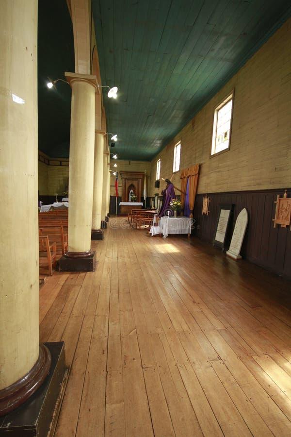 Chiloe Chile - hölzerne Kirche lizenzfreies stockbild