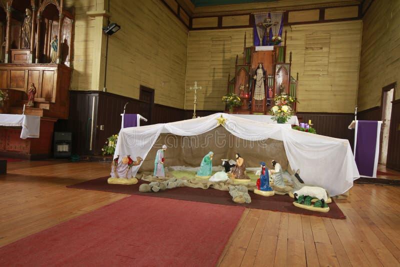 Chiloe Chile - Wooden church stock photos