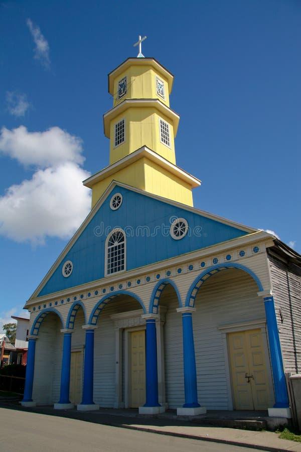 Chiloe Kirche lizenzfreie stockbilder