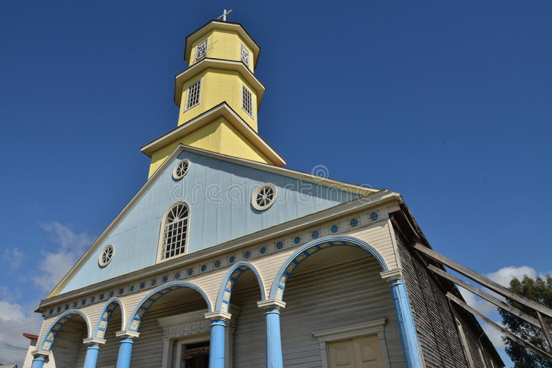 Chiloe kyrka royaltyfria bilder