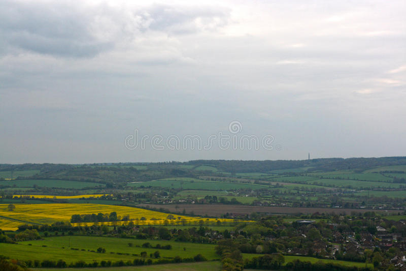 Chilterns landskap Sikt från Whiteleaf, prinsessa Risborough royaltyfri fotografi
