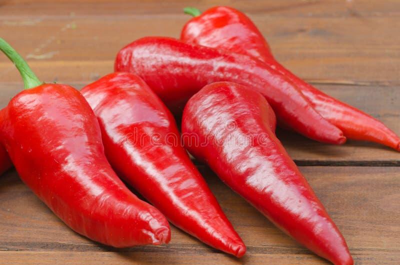 Chily pimentas encarnados fotografia de stock royalty free