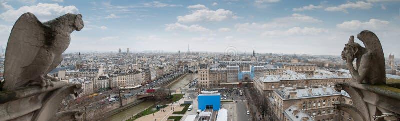 Chim?re de la cath?drale Notre Dame de Paris images libres de droits