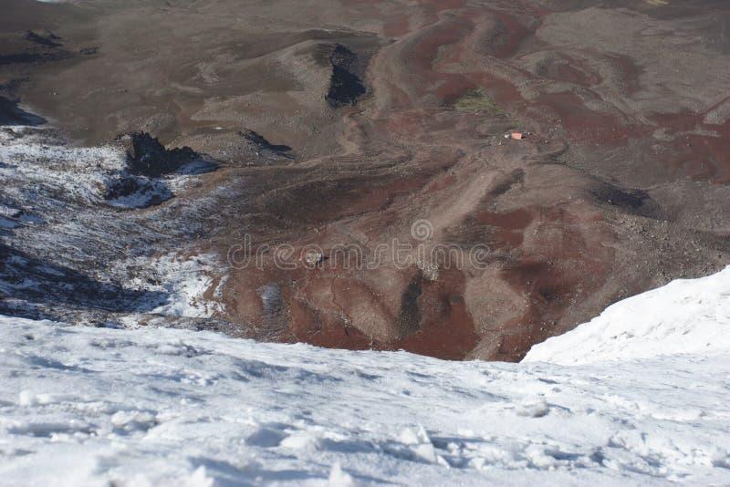 Chimborazo climbing. To the top of Chimborazo volcano Ecuador royalty free stock images