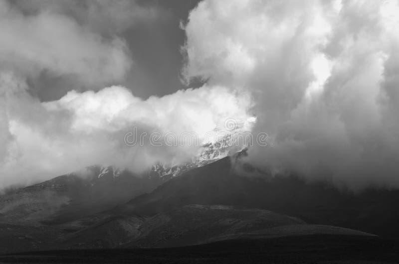 Chimborazo, a currently inactive stratovolcano in the Cordillera of the Ecuadorian Andes. Chimborazo is a currently inactive stratovolcano in the Cordillera stock images