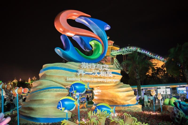 Chimelong-Ozean-Königreich-Erholungsort in Zhuhai, China stockfotografie