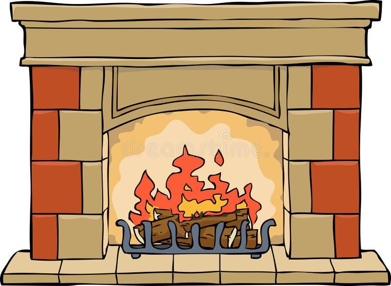 chimenea stock de ilustración