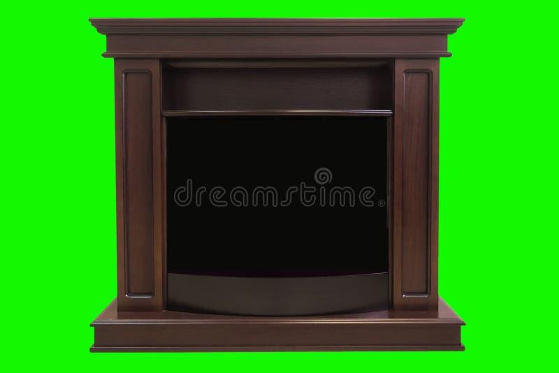 Chimenea aislada en la pantalla verde Perfeccione para su propio fondo usando la pantalla verde fotos de archivo