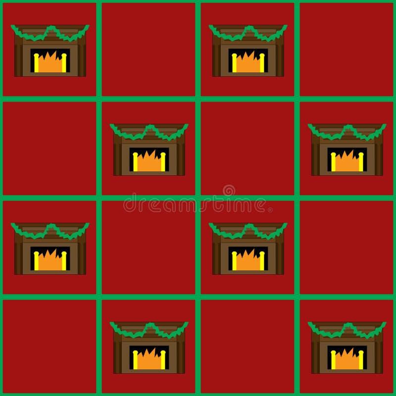 Chimenea de la Navidad inconsútil fotos de archivo libres de regalías