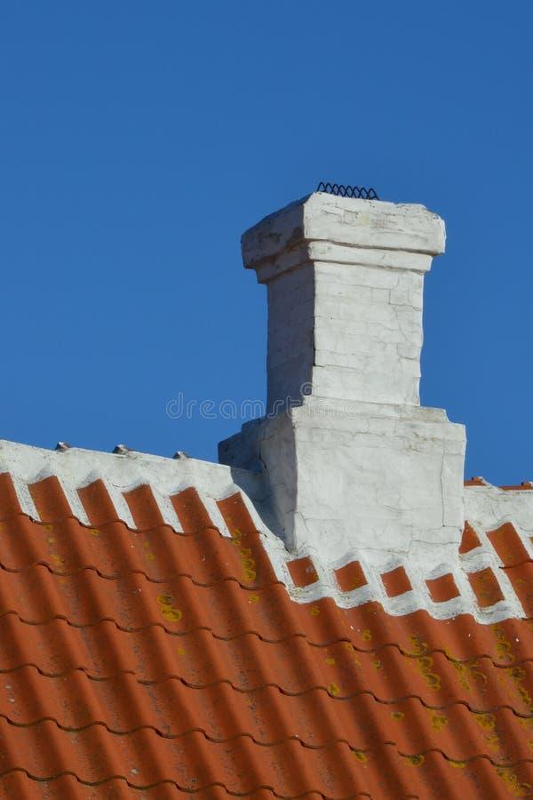 Chimenea del tejado de Skagen fotos de archivo