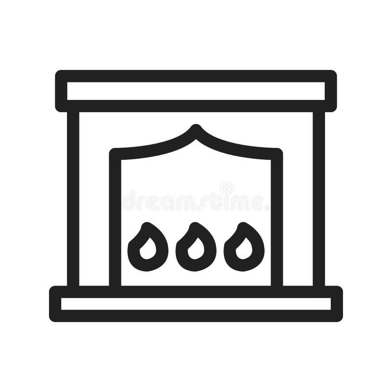 Chimenea eléctrica stock de ilustración