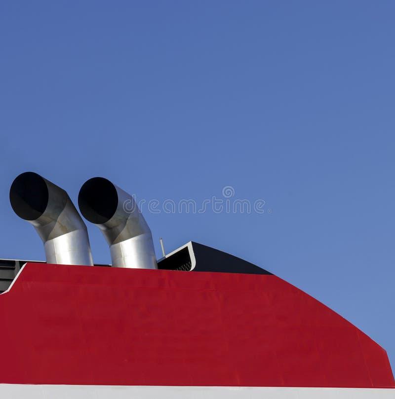Chimeneas del barco fotos de archivo libres de regalías