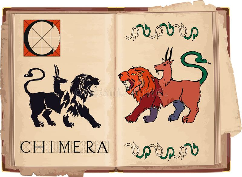 chimera illustrazione di stock