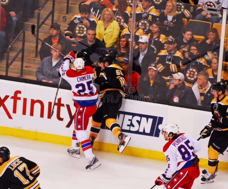 Download Chimera Checks Johnny Boychuk (NHL Hockey) Editorial Photo - Image: 24065906