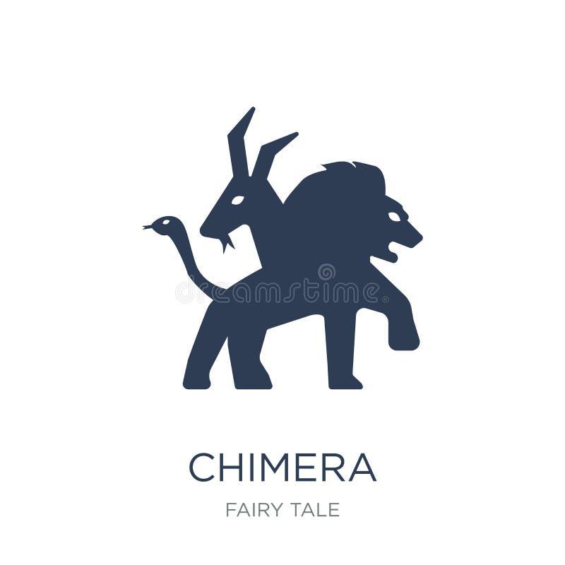 Chimera ikona Modna płaska wektorowa Chimera ikona na białym backgroun ilustracja wektor