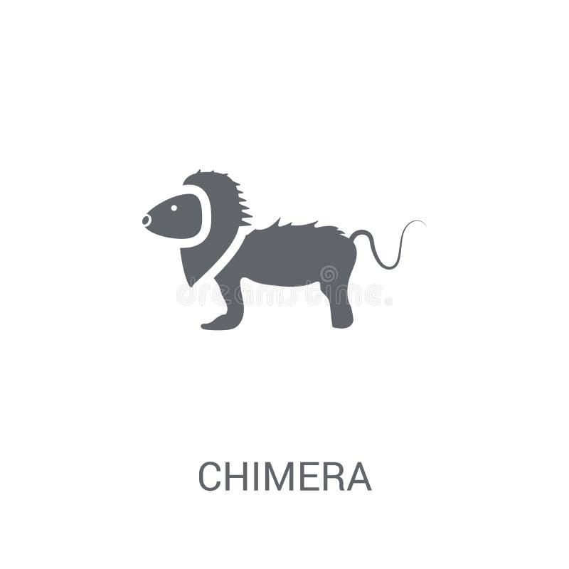 Chimera ikona Modny Chimera logo pojęcie na białym tle fr ilustracja wektor