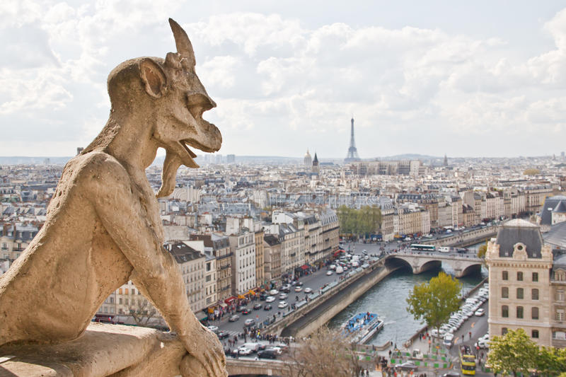 Chimera Of Notre Dame 6 Stock Photo