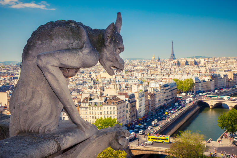 Download Chimera On Notre Dame Cathedral Stock Photo - Image of gothic, famous: 26473258