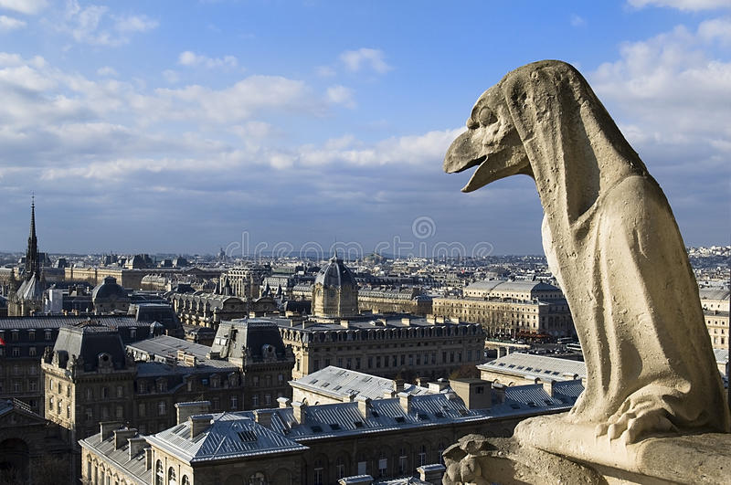 Download Chimere of Notre-Dame stock photo. Image of architecture - 25406596