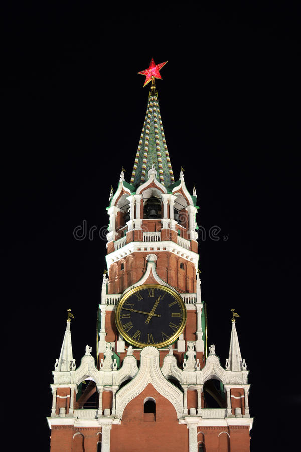 Chimes on the main Kremlin tower royalty free stock image