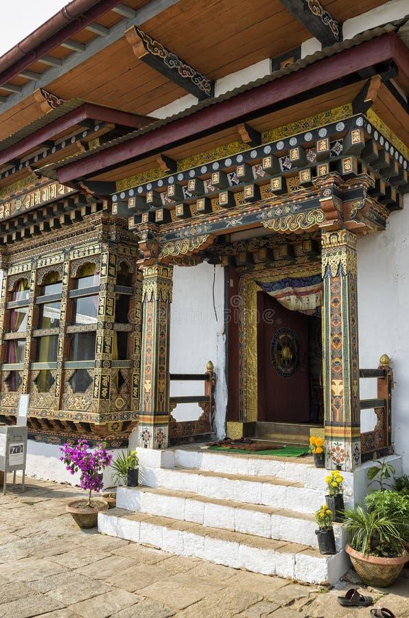 Chimi Lhakang monaster, Punakha, Bhutan zdjęcia royalty free