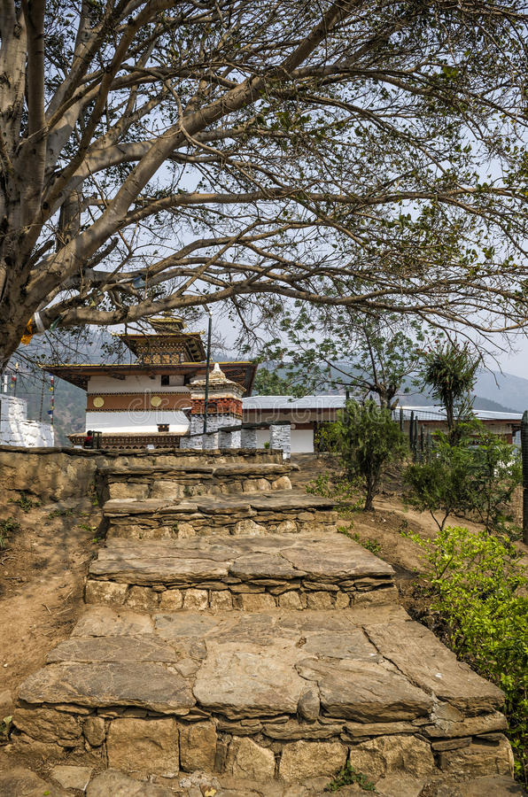 Chimi Lhakang Monastery, Punakha, Bhutan. Chimi Lhakhang, also known as Chime Lhakhang or Monastery or temple, is a Buddhist monastery in Punakha District royalty free stock images