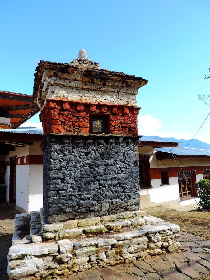Chimi Lhakhang,不丹 免版税库存照片
