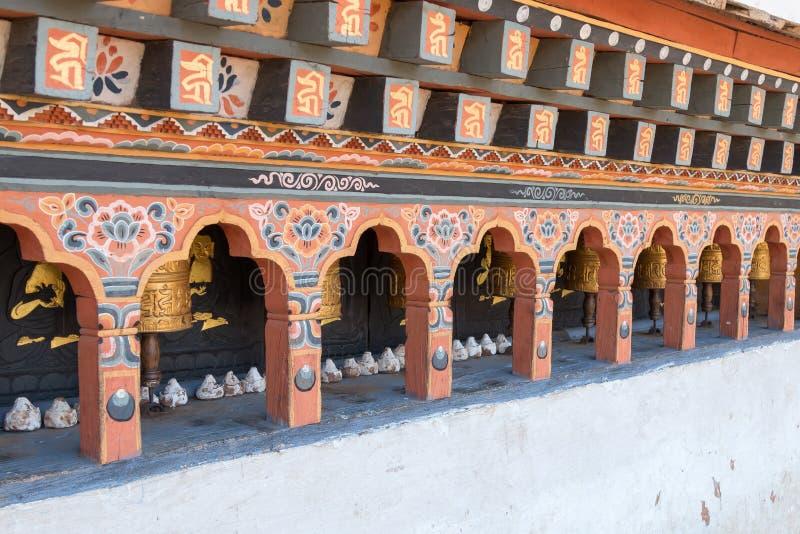 Chimi Lhakhang,生育力寺庙,一间佛教徒修道院在Punakha,不丹 库存照片