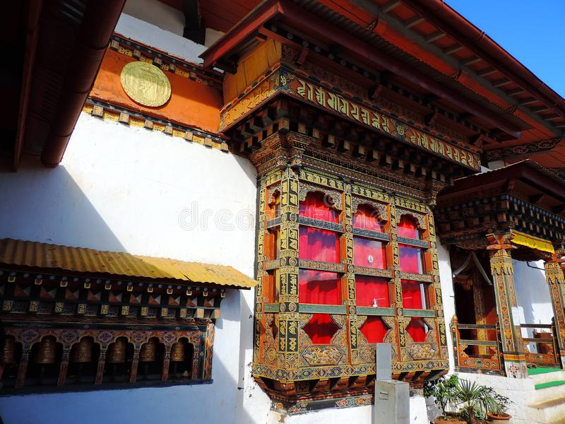Chimi Lhakhang, Бутан стоковые фото