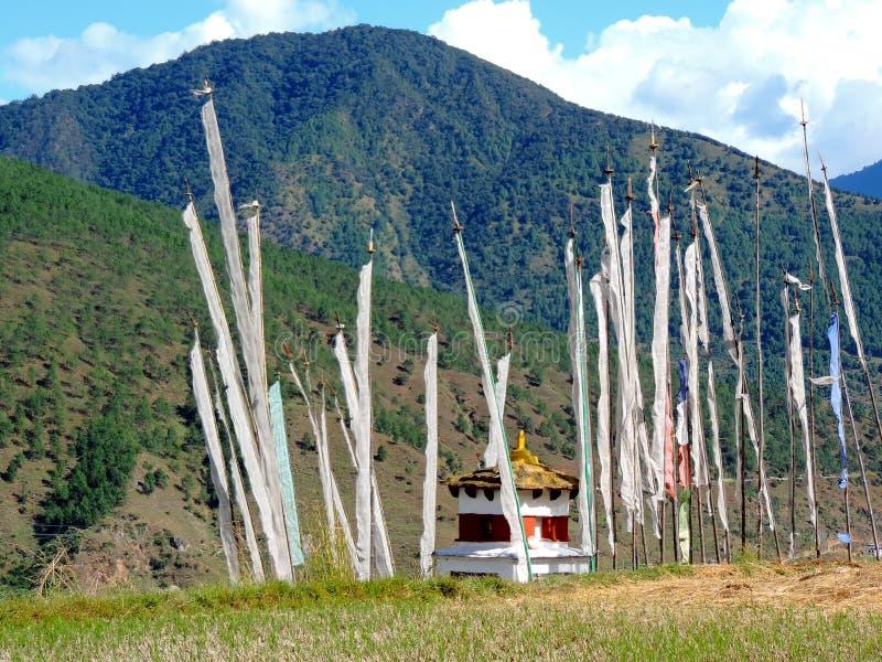 Chimi Lhakhang, Bhutan stockfotos